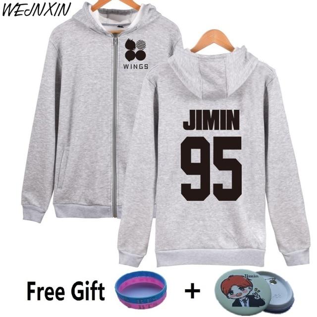 d6cf7fe989337 WEJNXIN J-HOPE JIN BTS 2th Album WINGS Hoodies Women SUGA JIMIN V JUNG KOOK  Sweatshirt Bangtan Boys Fleece Streetwear