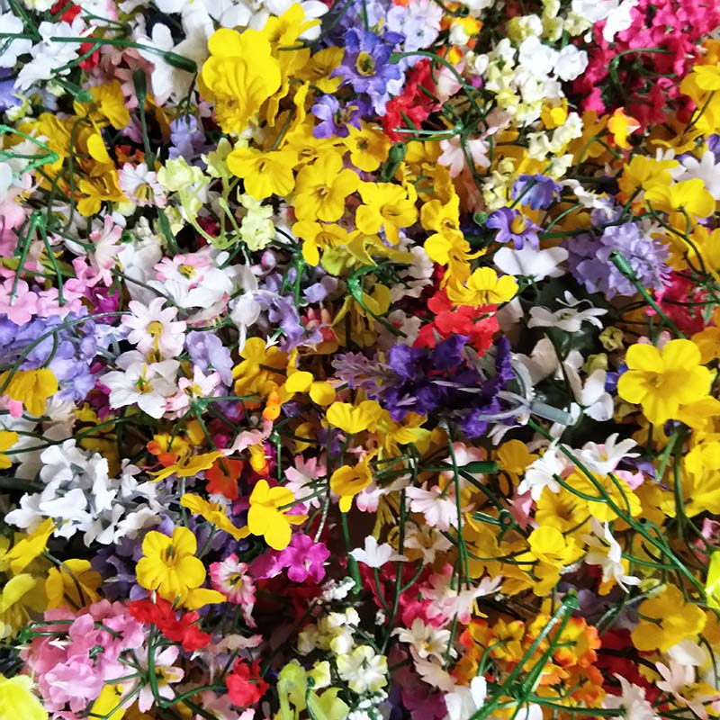 Randomly mix silk flowers bunches 50pcsbag mix color mix design randomly mix silk flowers bunches 50pcsbag mix color mix design clearance sale lowest price sale in artificial dried flowers from home garden on mightylinksfo