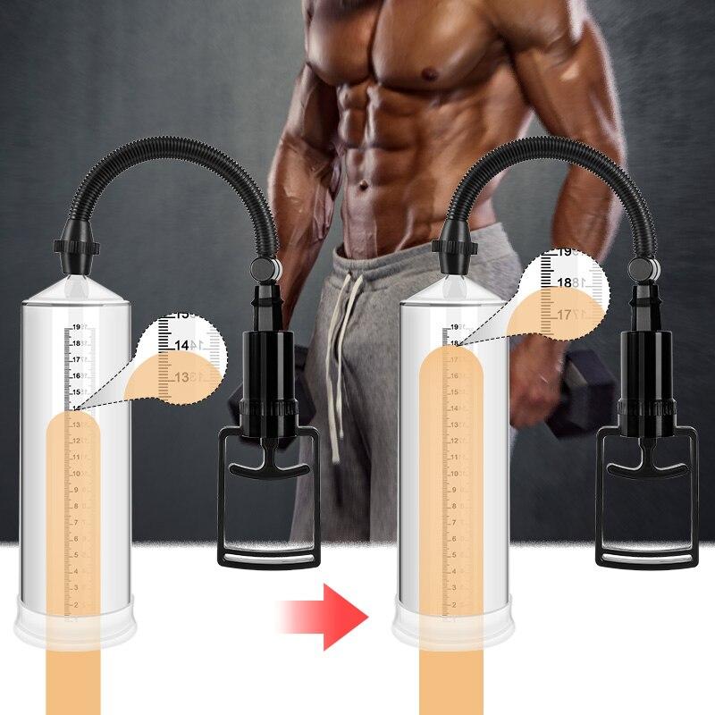 Beilile Enlargerment Penis Pumpe Mit Hülse Sex Spielzeug für Erwachsene Penis Extender Pumpe für Männer Vagina Sex Produkte