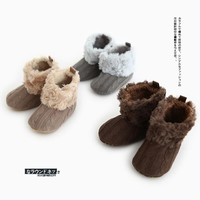 Zapatos Inferiores suaves de Moda Mocasín Bebé Recién Nacido Bebés de Algodón Tejido de Punto Primeros Caminante Prewalkers Botas de Moda para Niños