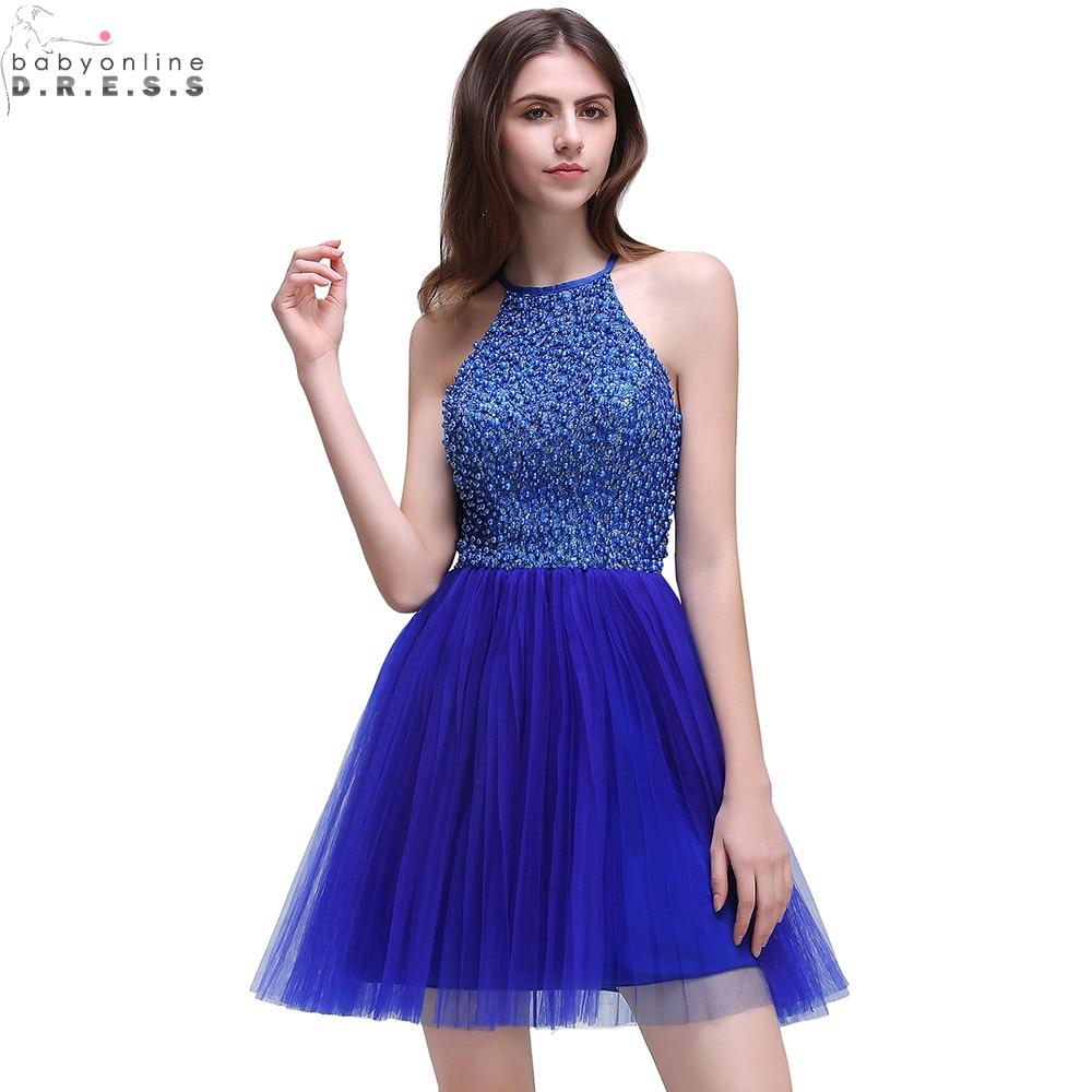 Vestido de Festa Curto Cristales Moldeados de Lujo Azul Marino ...