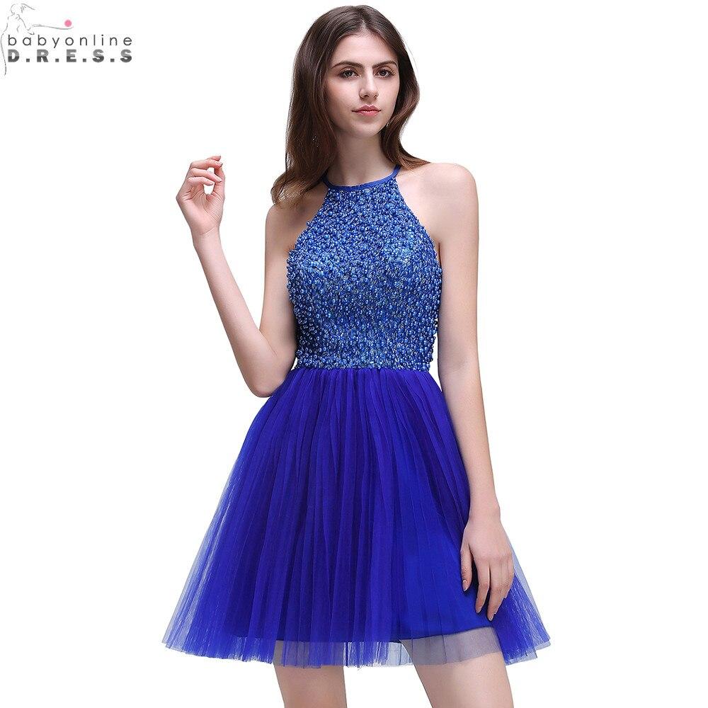 Vestidos Casuales Cortos Azul Rey