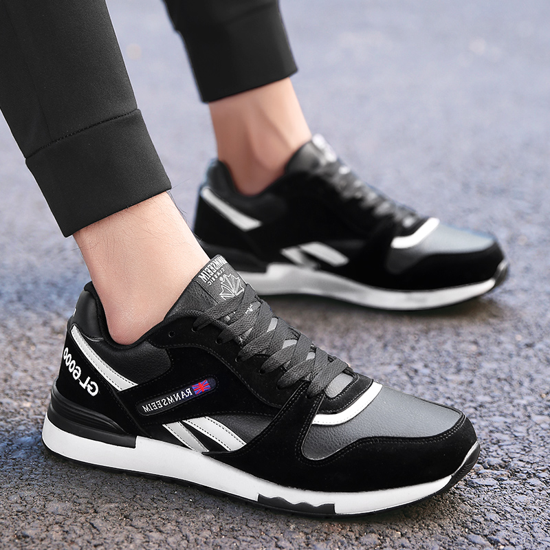 Mens Gym Shoes Sport Sneakers Comfortable Spring Autumn Men Running Sneakers Black Gray Sport Shoes Men Brand Running shoes in Running Shoes from Sports Entertainment