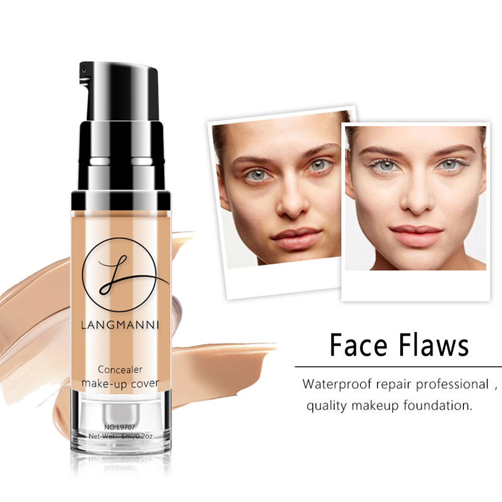 New Bright white Face Makeup Foundation Liquid Concealer brighten skin color long lasting Beauty Make up BB cream TSLM2(China)