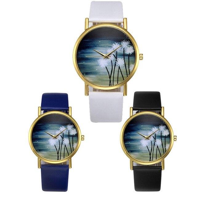 Classic Fashion Wrist Watch Womens Retro Design Leather Band Analog Alloy Quartz Wrist Watch 2018 Bracelet Watch Ladies