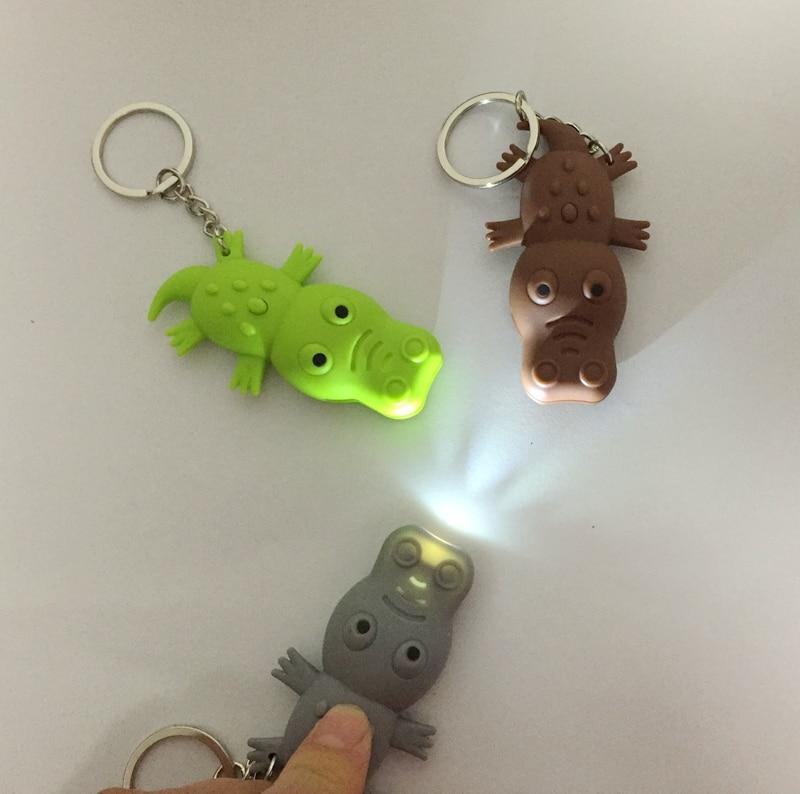 New arrive the crocodile led keychain with sound ,flashlight keyring,polular Cool key chain pendant