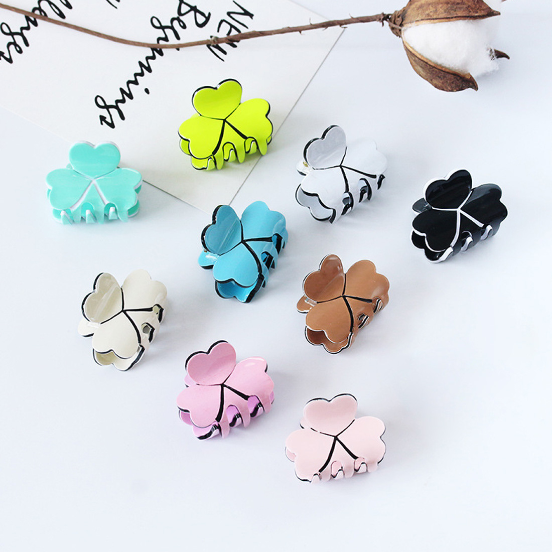 1pcs Cute Mini Fashion crystal Clover stars crab Hair Clip Claws For Women Girl Hairpins Jewelry head wear accessories in Women 39 s Hair Accessories from Apparel Accessories