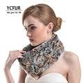 YCFUR Anel Das Mulheres Da Forma Cachecol Inverno 2016 Genuine Rex Rabbit Fur Wraps Inverno Malha Real Rex Rabbit Fur Cachecóis