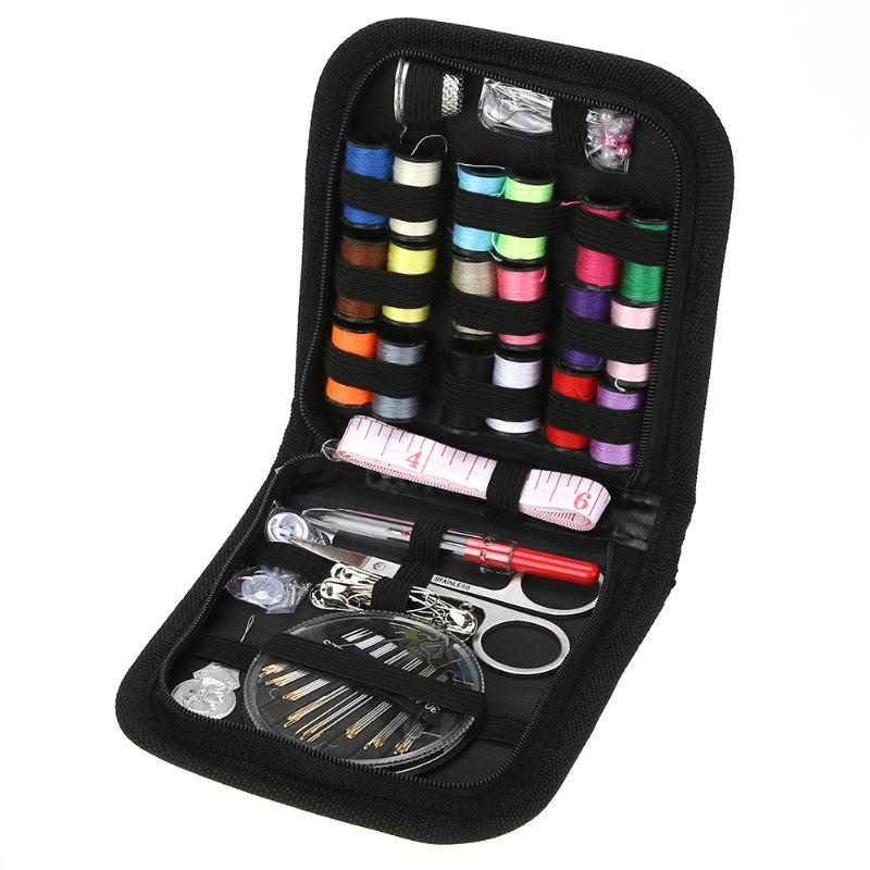 70 pcs/ensemble Portable Boîte À Couture Kit avec le Cas Multifonction Voyage Couture Broderie Aiguille À Coudre Craft Couture Kits Maman Cadeaux