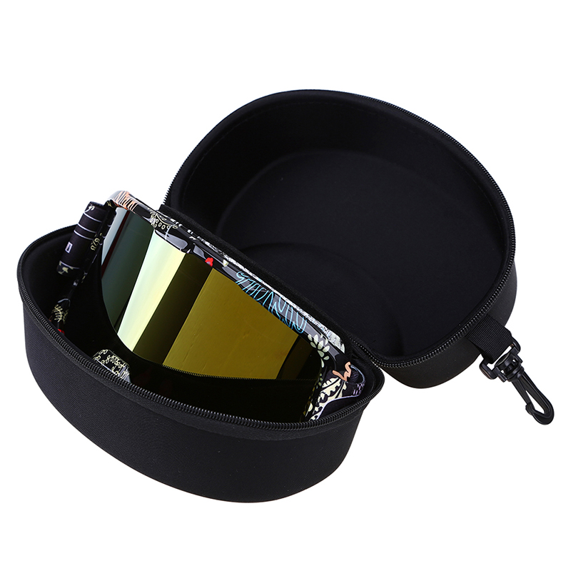 EVA Ski Goggle Eyewear Storage Box Snowboard Glasses Box Sunglasses Zipper Buckle Skiing Glasses Protector Case Without Goggles