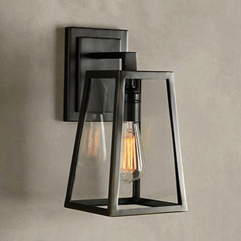 American vintage iron wall lamp loft outdoor wall lights bedside e27 american vintage iron wall lamp loft outdoor wall lights bedside e27 edison garden wall sconce yard deco lighting black lamp hot in wall lamps from lights aloadofball Images