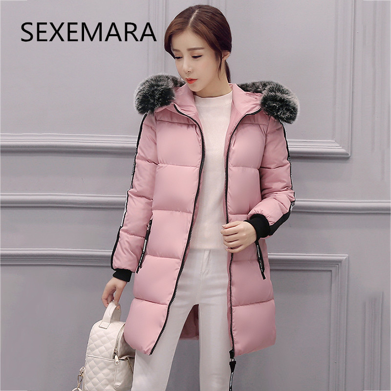 Women's brand winter jacket 2017 new fashion long-sleeved hooded Long section Fur collar warm park cashmere coat LU198 [free shipping] 2015 new arrival fashion female 1 4 years child love baby cashmere long sleeved jacket trousers leisure suit