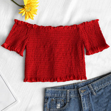 ba0c0e9a06313 Buy shirred top and get free shipping on AliExpress.com