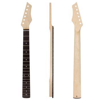 цена на Kmise Electric Guitar Neck Canada Maple 22 Frets HPL Fingerboard Bolt on C Shape Clear Satin