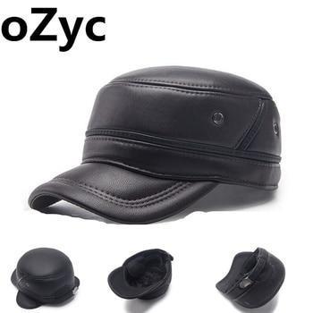 ed58cbcb96a6c 2017 invierno sombrero Snapback Gorras con orejeras gorra de béisbol de  lana sombrero Gorras Planas Casquette para hombre super pu sombrero caliente