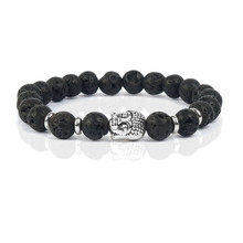 Shinus pulseiras lava buddha bangles bijoux feminina femme love stone bracelets
