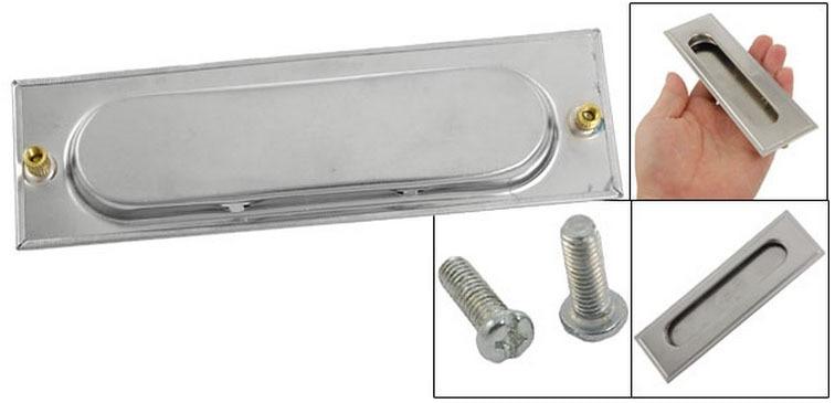 screw mounted recessed flush pull sliding door cabinet drawer handle 2 pcschina - Cabinet Door Pulls