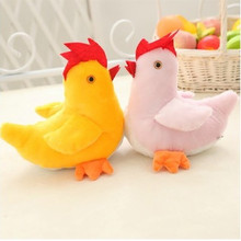 Plush Cock Toys Rooster Chick Chicken Chickling Chook Mascot With Cute Wings Yellow Dolls Cock As a Gifts for Kids