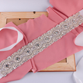 TOPQUEEN S04 FREE SHIPPING 2016 Fashionable Handmade Bridal Belts Crystal Bridal Dress Accessories Sash Formal Occasion Belts