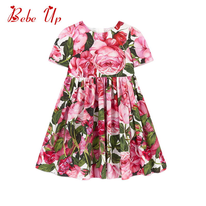 Baby Girls Summer Dress Floral Pattern Children's A Line