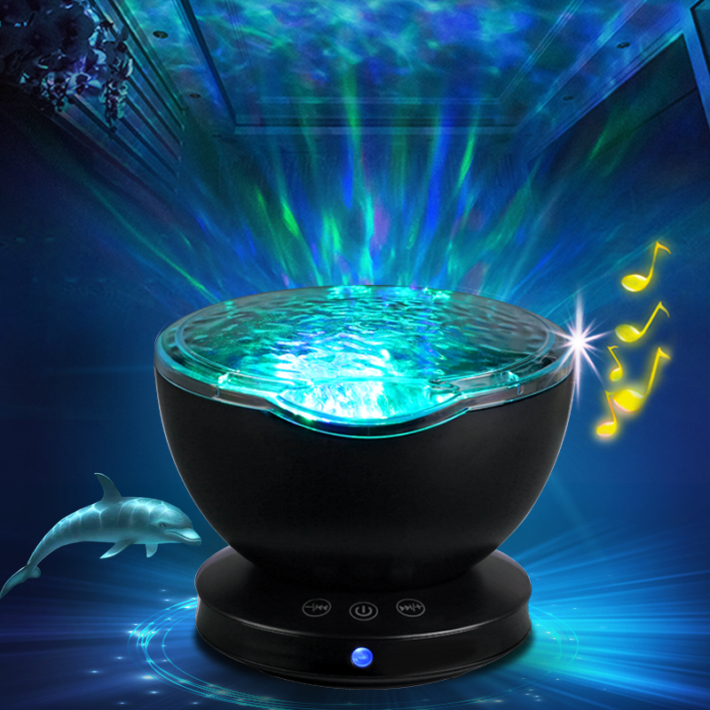 Baby Luminous Toys Night Sleep Light Star Sky Ocean Wave Music Player Projector Lamp Baby Kids LED Sleep Appease Lights Gifts