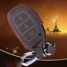 Leather Keychains Cover Case For Hyundai Elantra Verna Sonata Tucson I30 Ix45 Leather Car Key Case For Hyundai Keychain For Keys
