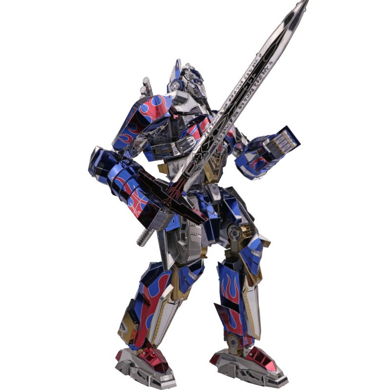 MU 3D Metal Puzzle TF Optimus Prime Joint Movable DIY Laser Cut Jigsaw Model For Adult