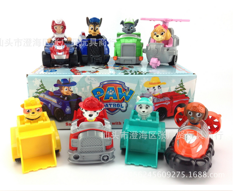 2017 toys pata figure action ryder chase kid children toy Anime patrulha patrulla canina patrol puppy canine PAWED dog 10pcs bag toy bag small pet shop figures toys animal cat dog patrulla canina action figures kids toys gift