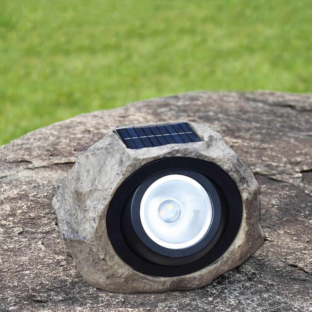 Luz creativa grande de jardín al aire libre LED Solar decorativa roca piedra punto luces lámpara patio decoración jardin exterior led jardín