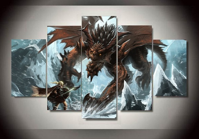 The Elder Scrolls V Skyrim Canvas Paintings Home Decor Wall Art