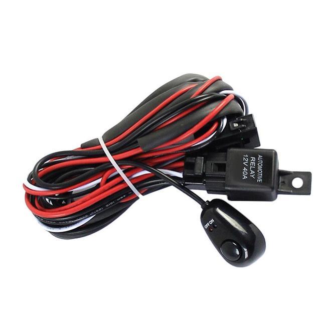 universal 12v 40a car fog light wiring harness kit loom for led work bmw e36 fog light wiring harness universal 12v 40a car fog light wiring harness kit loom for led work driving light bar