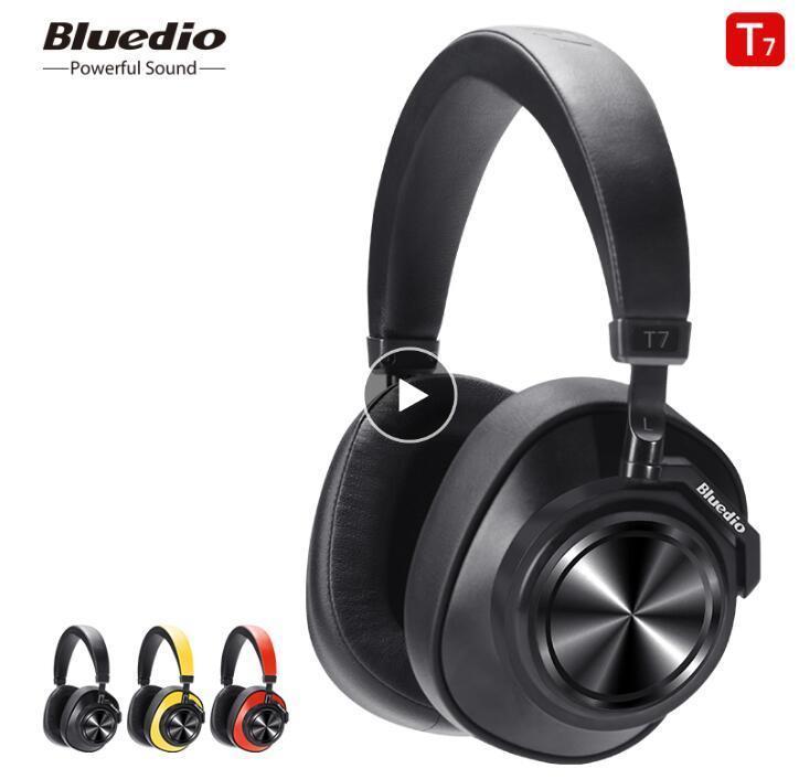 Casque Bluetooth sans fil Bluedio T7 Original casque de reconnaissance de visage à suppression de bruit actif défini par l'utilisateur pour la musique des téléphones