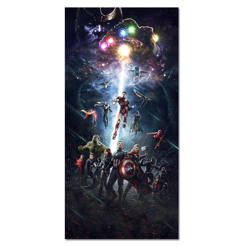 Silk Poster Thanos Battlefield Abstract Super-Heroes Picture-Cloth Wall-Art Movie