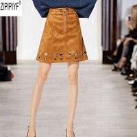 High End Подиум Лидер продаж Женская юбка 2018 новый осень летние шорты юбки женские Высокая Талия норки юбка Женский онлайн юбка C2253