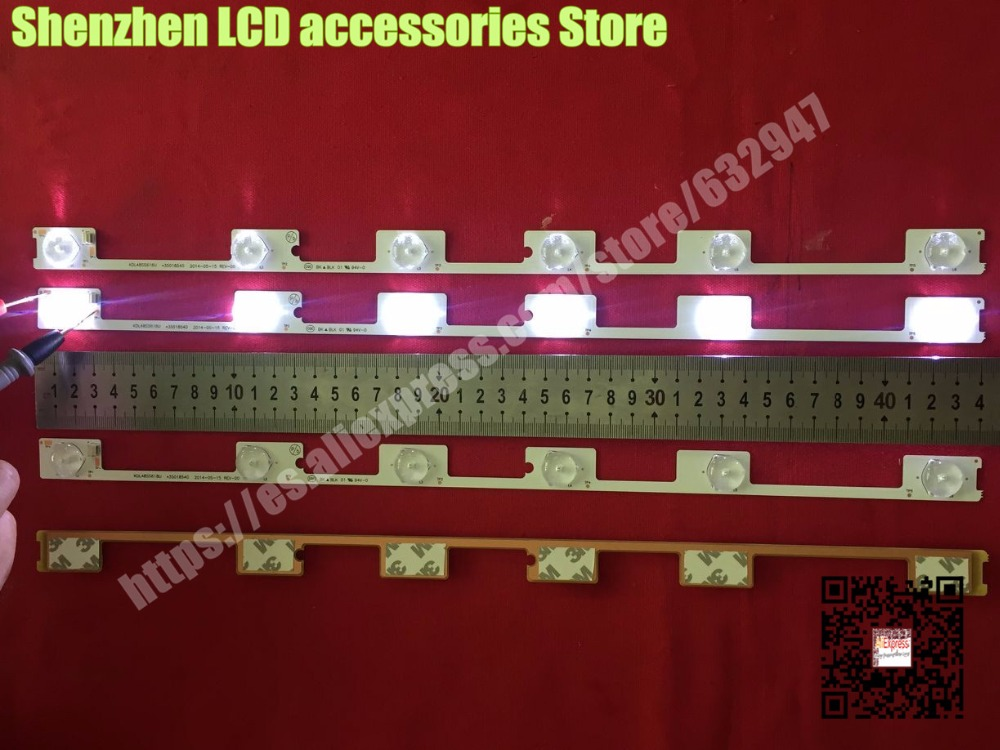 50piece/lot FOR LED Backlight Bar Strip For KONKA KDL48JT618A 35018539 6 LEDS(6V) 442mm 100%NEW