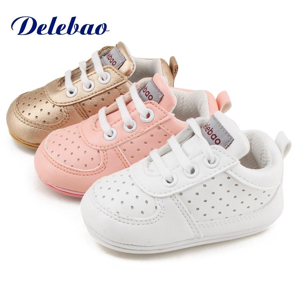 Delebao rubberen zolen voor een peuter schoenveter baby schoenen - Baby schoentjes - Foto 3