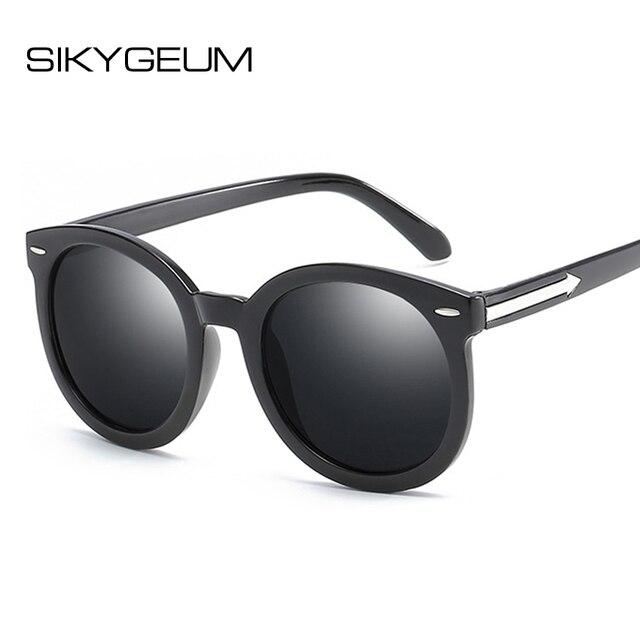 4ad0558428 SIKYGEUM Round Sunglasses Women Men Reflective Mirror Sun Glasses Female  Male Brand Designer Sunglass Shades for Women S0237