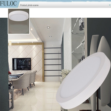 FULOC  8W/15W/20W/30W Round/Square Led Panel Light Surface Mounted Downlight lighting Led ceiling down AC85-265V