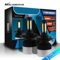 MALUOKASA 1Pair Auto H7 H4 LED Headlight Bulb 72W 9000LM H11 9005 9006 Car Head Lamp