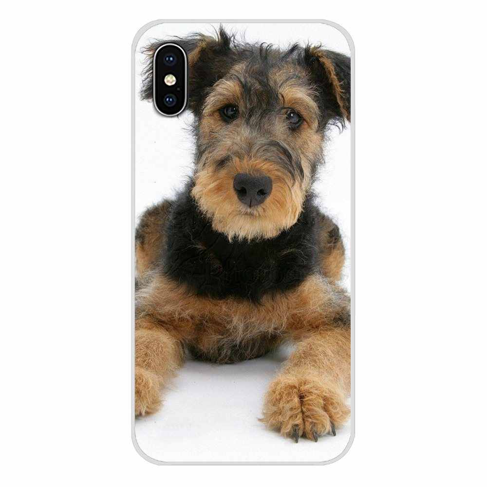 Accessoires coque téléphone protection Airedale Terrier dog art pour Samsung Galaxy J1 J2 J3 J4 J5 J6 J7 J8 Plus 2018 Prime 2015 2016 2017