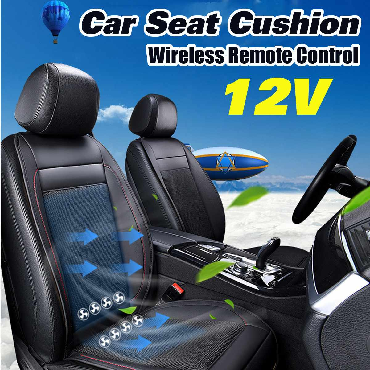 Cushion Seat Car-Ventilation-Cushion Massage Cooling-Pad Hot Summer 12V Remote-Control