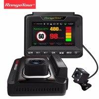 Россия 3 в 1 Видеорегистраторы для автомобилей Антирадары GPS регистраторы FHD 1296 P видео Регистраторы автомобиля Камера LDWS fcws Авто Регистратор