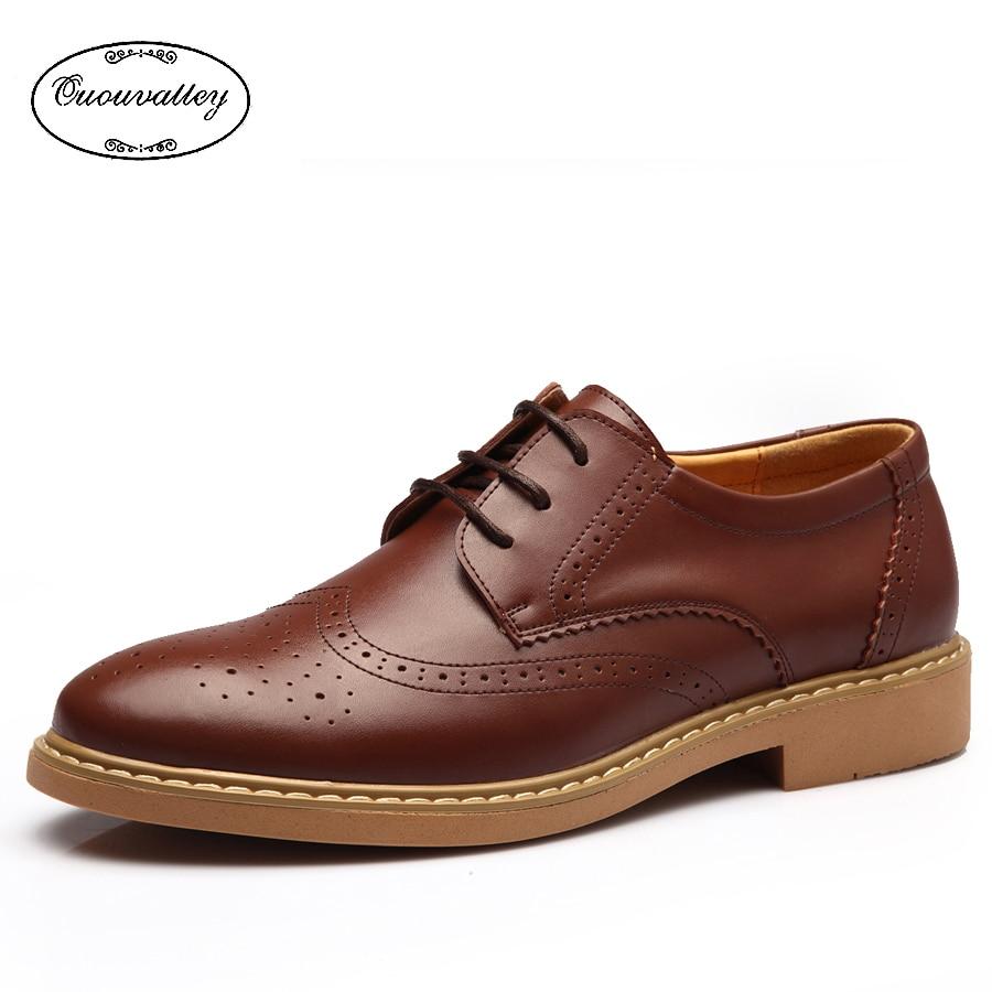 New 2016 Men Flat Shoes Vintage Carving Brogue Oxford Shoes Men Casual Shoes Low Top Men Leather ...