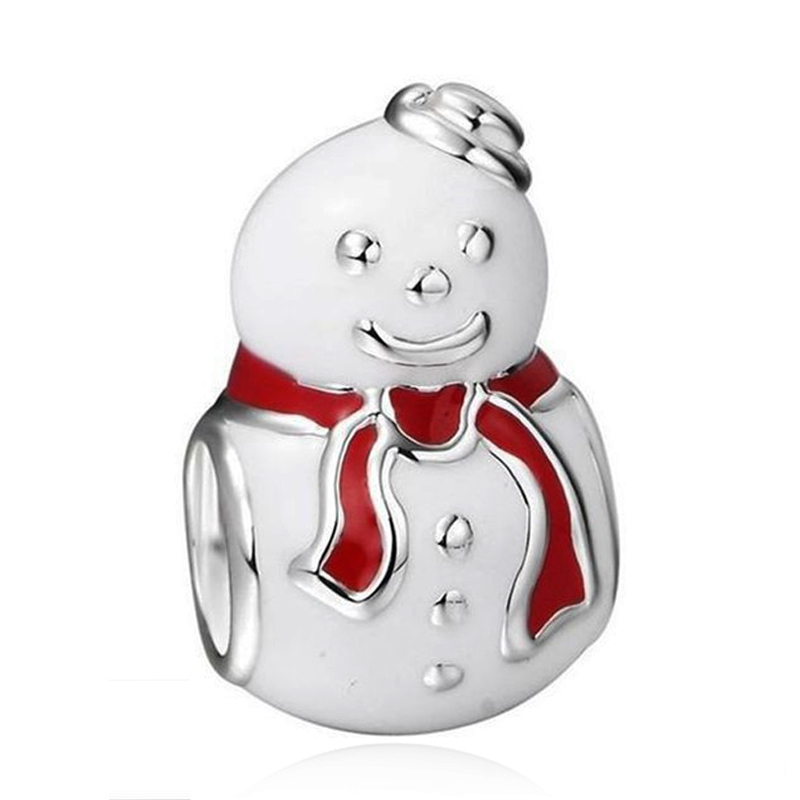 d09fc84e4 New Christmas Gifts Winter Cute Snowman Alloy Bead Charm Fit Pandora  Bracelets & Necklace