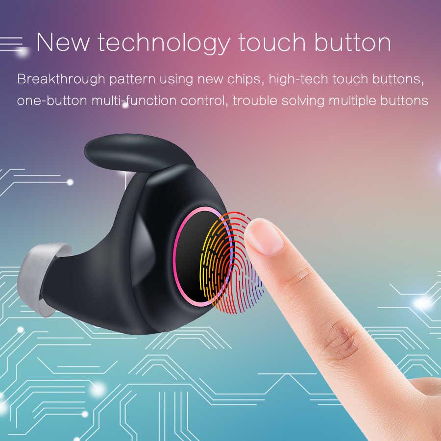 CBAOOO X118 TWS Bluetooth イヤホン 5.0 ミニスポーツワイヤレスヘッドセットステレオ低音イヤフォンタッチ充電制御イヤホン