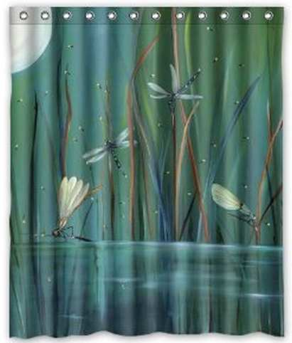 Free Shipping Some Dragonfly Shower Curtain Bath High Quality Of 60 X