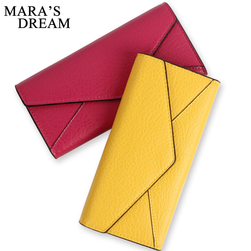 Mara's Dream Women Wallet PU Leather Wallet Female Purse Long Coin Purses Holders Ladies Wallet Hasp Fashion Card Holders Wallet 2017 new ladies purses in europe and america long wallet female cards holders cartoon cat pu wallet coin purses girl