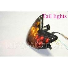 motorcycle parts LED Tail Brake Light For Kawasaki Ninja ZX10R ZX10 ZX1000 2004 2005 SMOKE