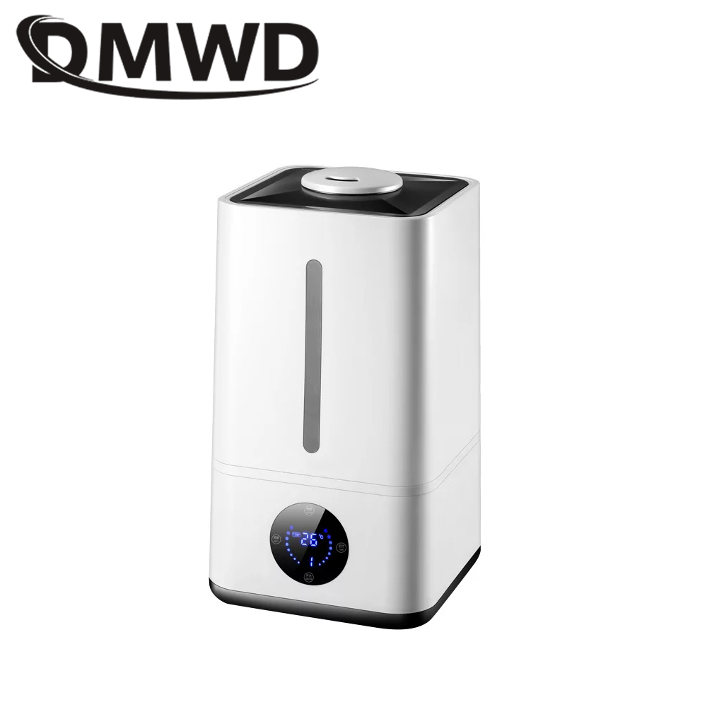 DMWD Ultrasonic Humidifier 4.8L Fogger Electric Aromatherapy Essential Oil Diffuser Timer LED Display Mist Maker Fogger EU Plug electric air ultrasonic humidifier mute home office mini fogger essential oil diffuser purifier mist maker timer led display eu