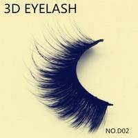 New 1 pair high quality Real 3D synthetic hair eyelash extension thick long makeup beauty false eyelash free shipping D02